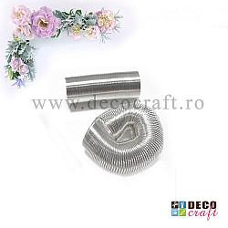 Sarma cu memorie pentru inele - Argintiu-cromat
