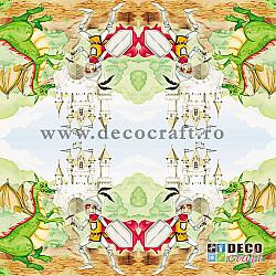 Servetele - Antreneaza-ti dragonul - 33x33cm, 4 buc.