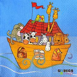 Servetele - Arca lui Noe - 33x33cm, 4 buc.