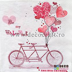 Servetele - Bicicleta indragostitilor - 33x33cm, 4buc