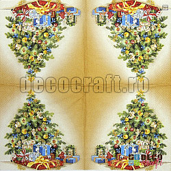 Servetele - Bradul de Craciun - 25x25cm, 4 buc.