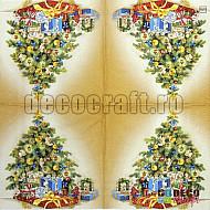Servetele - Bradul de Craciun - 33x33cm, 1 pachet (20 buc.)