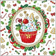 Servetele - Briose decorate - 33x33cm, 4 buc