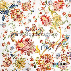 Servetele - Broderie cu flori - 33x33cm, 1 pachet (20 buc.)