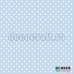Servetele - Buline pe bleu - 33x33cm, 4 buc.