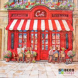 Servetele - Cafenea pariziana - 33x33cm, 4 buc.