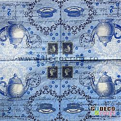 Servetele - Casa de ceai - 33x33cm, 4 buc.