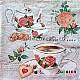 Servetele - Ceai si biscuiti - 33x33cm, 4 buc