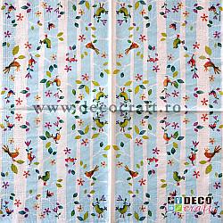 Servetele - Ciripitul pasarilor - 33x33cm, 4 buc