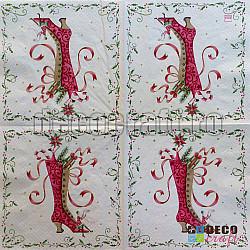 Servetele - Cizmele Doanei Craciun - 33x33cm, 4 buc