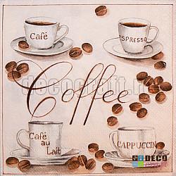 Servetele - Coffe - 33x33cm, 4 buc.