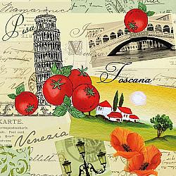 Servetele - Collage Italia - 33x33cm, 4 buc.