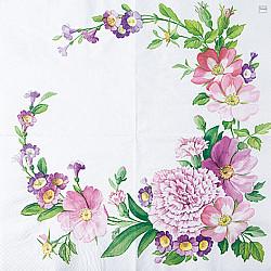 Servetele - Coltul florilor mari - 33x33cm, 4 buc