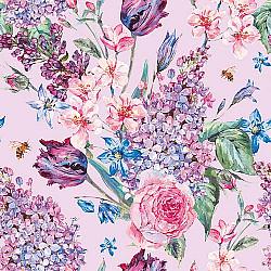 Servetele - Compozitia florilor (lila) - 33x33cm, 4 buc.