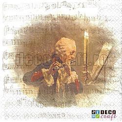 Servetele - Concert de flaut - 33x33cm, 4 buc.