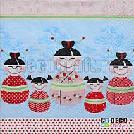 Servetele - Copii fericiti - 33x33cm, 4 buc