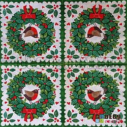 Servetele - Coronita cu Robin - 33x33cm, 4 buc