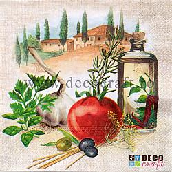 Servetele - Din bucataria Italiei - 33x33cm, 4buc