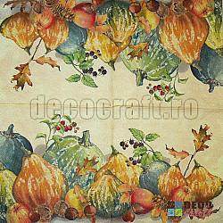 Servetele - Dovleci pictati - 33x33cm, 4 buc.