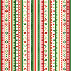 Servetele - Dungi & Stele rosu/verde - 33x33cm, 4 buc.