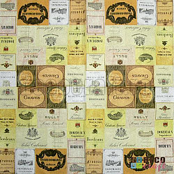 Servetele - Etichete vintage - 33x33cm, 4 buc.