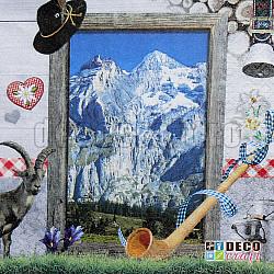 Servetele - Excursie in Alpi - 33x33cm, 4 buc
