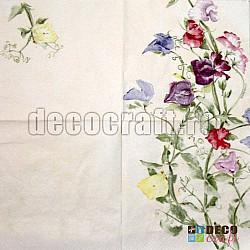 Servetele - Flori pictate - 33x33cm, 4 buc.
