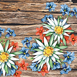 Servetele - Florile alpilor - 33x33cm, 4 buc
