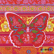 Servetele - Fluture oriental - 33x33cm, 1 pachet (20 buc.)