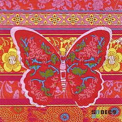 Servetele - Fluture oriental - 33x33cm, 4 buc.