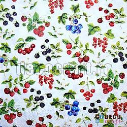 Servetele - Fructe mici - 33x33cm, 4 buc