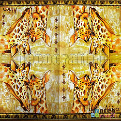 Servetele - Girafe - 33x33cm, 4 buc.