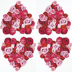 Servetele -Heart of Roses - 33x33cm, 4 buc.