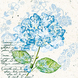 Servetele - Hortensie (albastru)  - 33x33cm, 4 buc