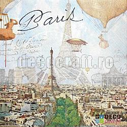 Servetele - Imagineaza-ti Parisul - 33x33cm, 4 buc.