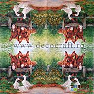 Servetele - Intalnirea cu prietenii - 33x33cm, 4buc