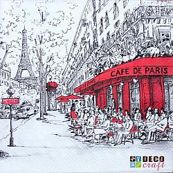 Servetele - Joli Paris - 33x33cm, 4 buc