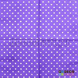 Servetele - Lila cu buline - 33x33cm, 4 buc