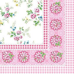 Servetele - Lisa (roz) - 33x33cm, 4 buc.
