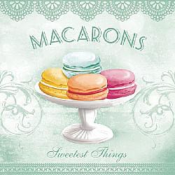 Servetele - Macarons Aqua - 33x33cm, 4 buc.