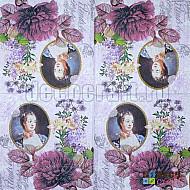Servetele - Madame Pompadour - 33x33cm, 4 buc