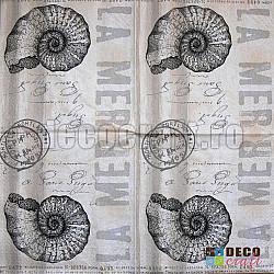 Servetele - Marea in stil vintage - 33x33cm, 4 buc