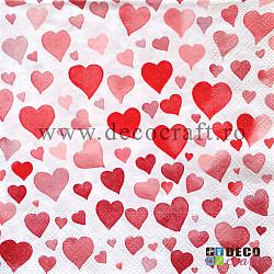 Servetele - Mii de inimi - 33x33cm, 4buc
