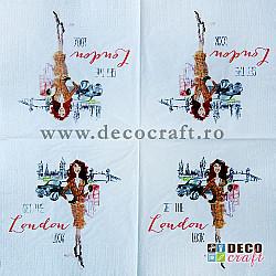 Servetele - Moda strazii (Londra) - 33x33 cm, 4buc.
