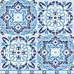 Servetele - Motive colorate (albastru/bleumarin) - 33x33cm, 4buc