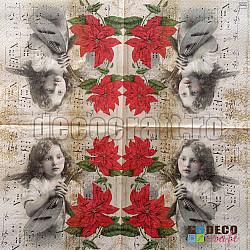 Servetele - Muzica divina - 33x33cm, 4 buc