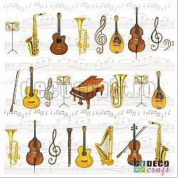 Servetele - Orchestra mare - 33x33cm, 4 buc.