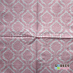 Servetele - Ornament elegant (roz) - 33x33cm, 4 buc