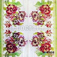 Servetele - Panselute pictate - 33x33cm, 4 buc.