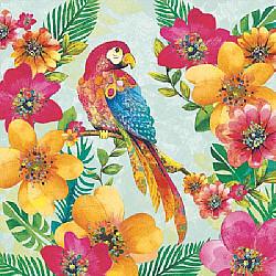 Servetele - Papagali tropicali - 33x33cm, 4buc